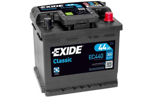 EXIDE CLASSIC – 12V, 44Ah, 360A