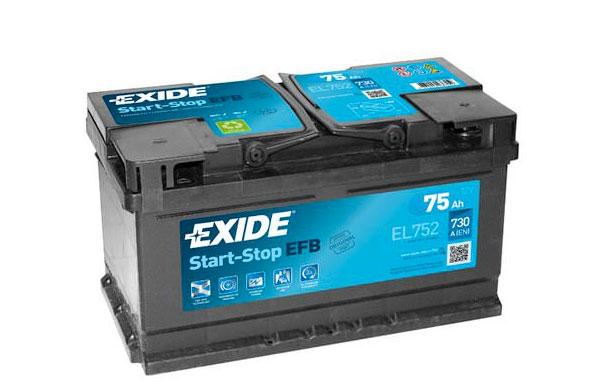 EXIDE START-STOP EFB – 12V, 75Ah, 730A